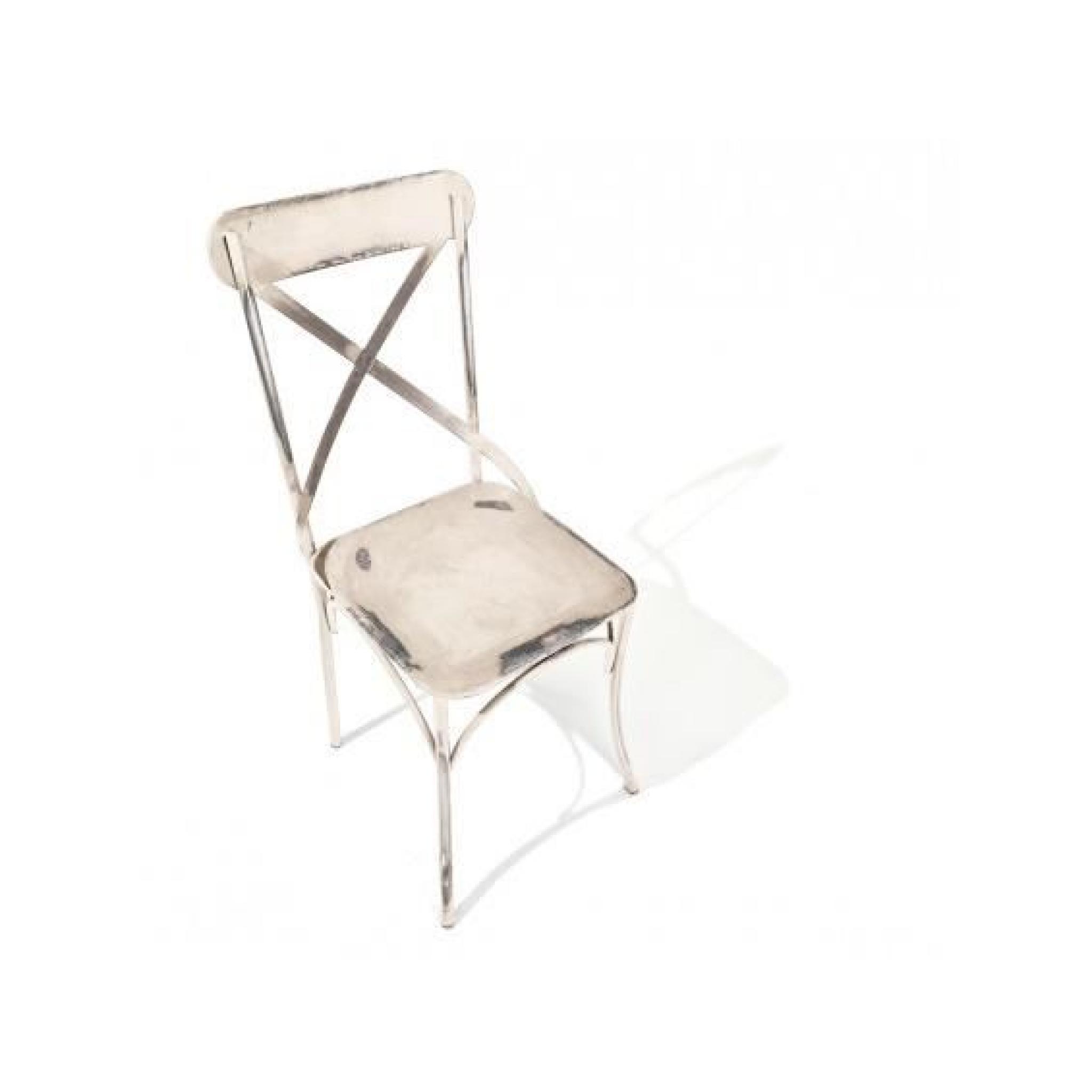 bistrot blanc lot 2 chaises bistrot achat vente chaise salle a manger pas cher couleur et design fr