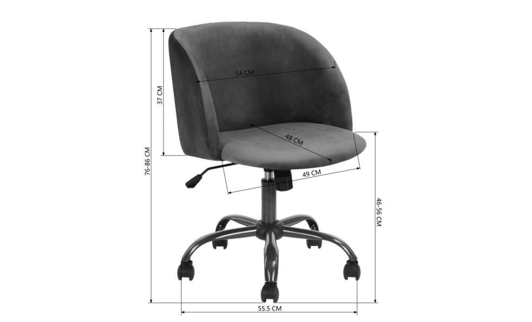 chaise de bureau fauteuil secretaire tissu velours metal hauteur reglable siege pivotant mobile roulant roulettes vert achat vente fauteuil de bureau pas cher couleur et design fr
