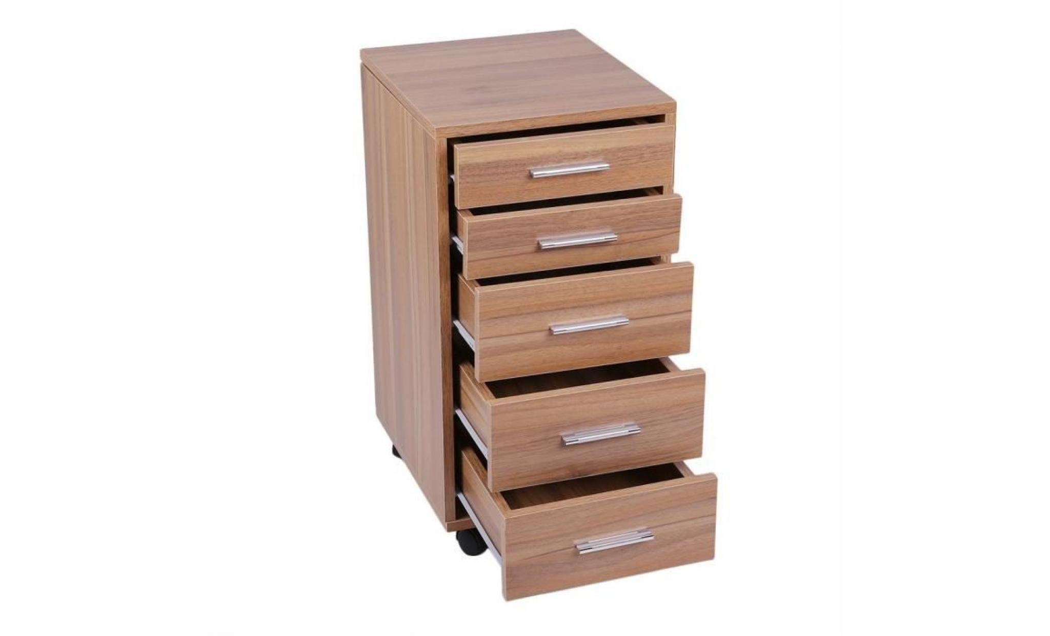 commode bois armoire meuble de rangement avec 5 tiroir achat vente commode pas cher couleur et design fr