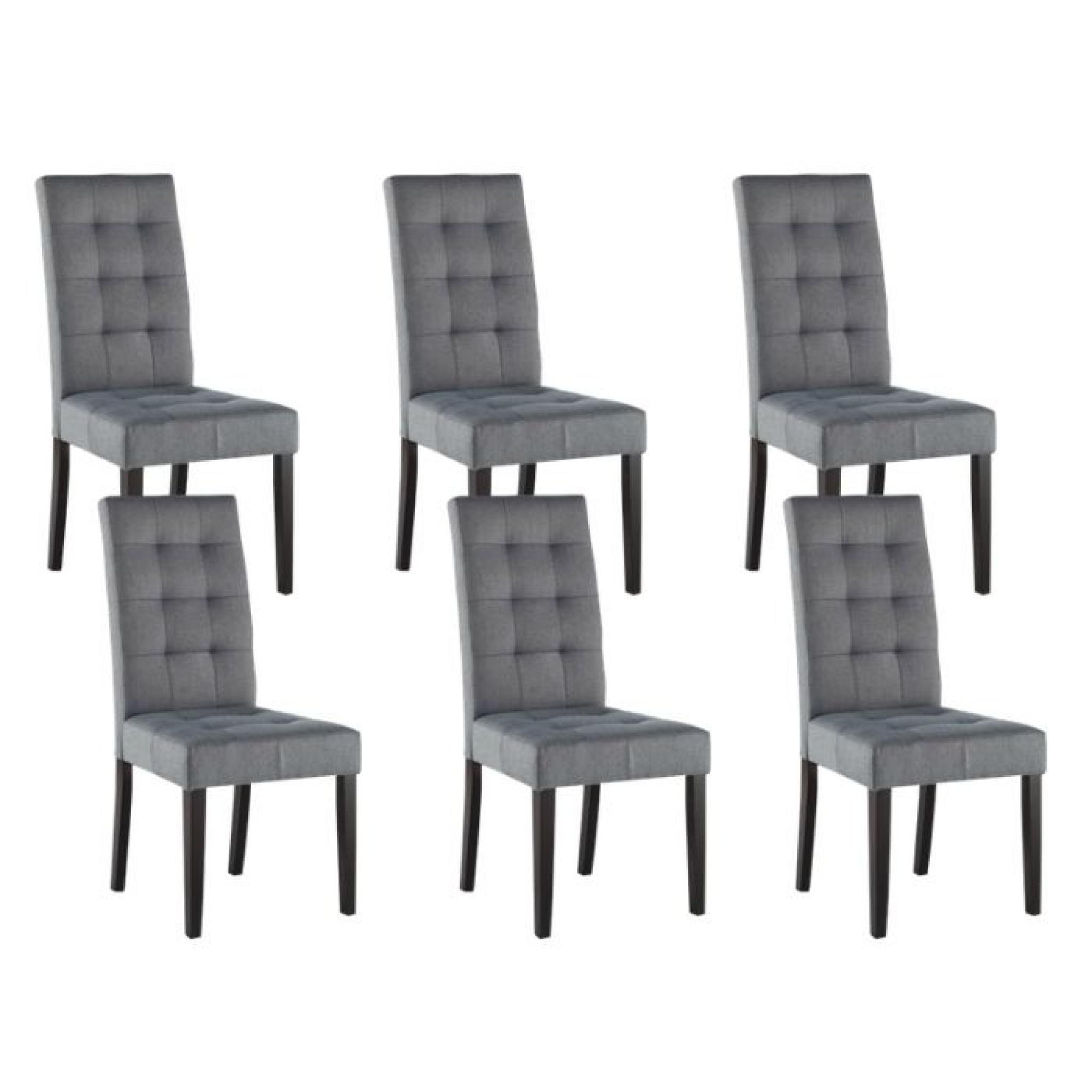 eden lot 6 chaises gris clair achat vente chaise salle a manger pas cher couleur et design fr