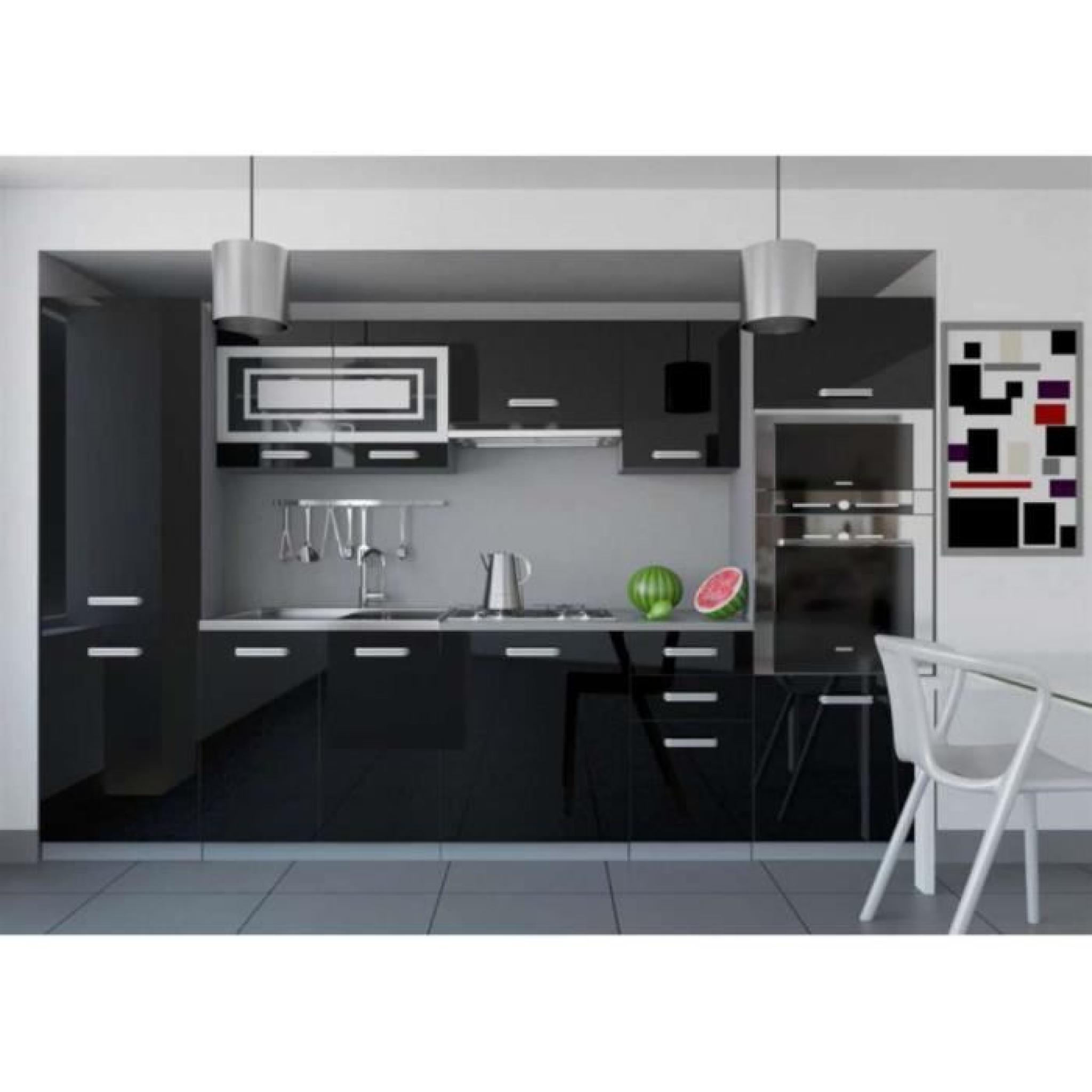 cuisine equipee complete but justhome infinity cuisine equipee complete cm couleur noir