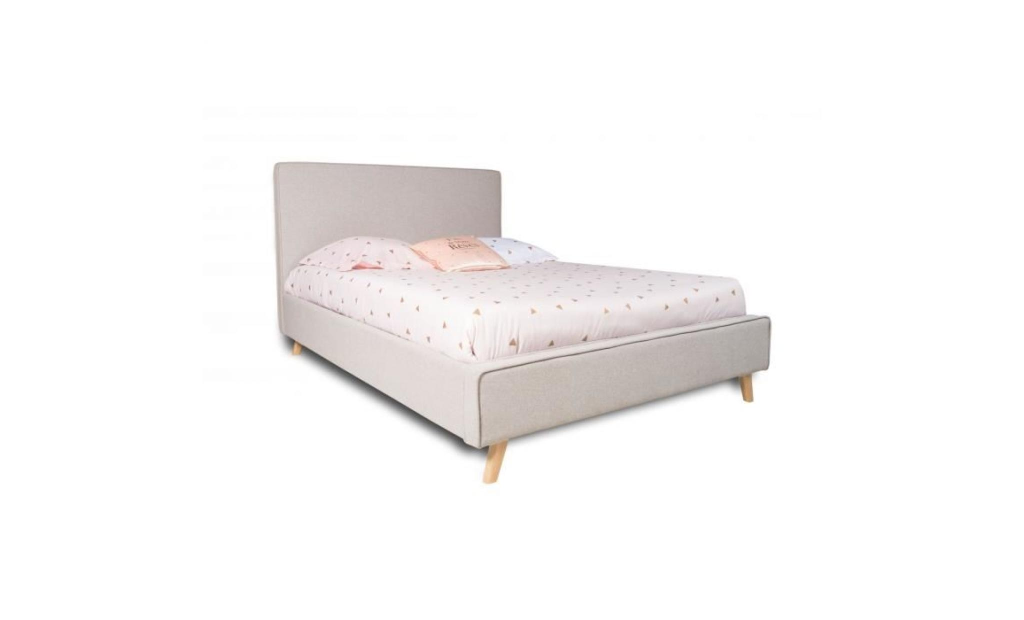 lit 2 personnes avec sommier inclus faro achat vente chambre complete pas cher couleur et design fr