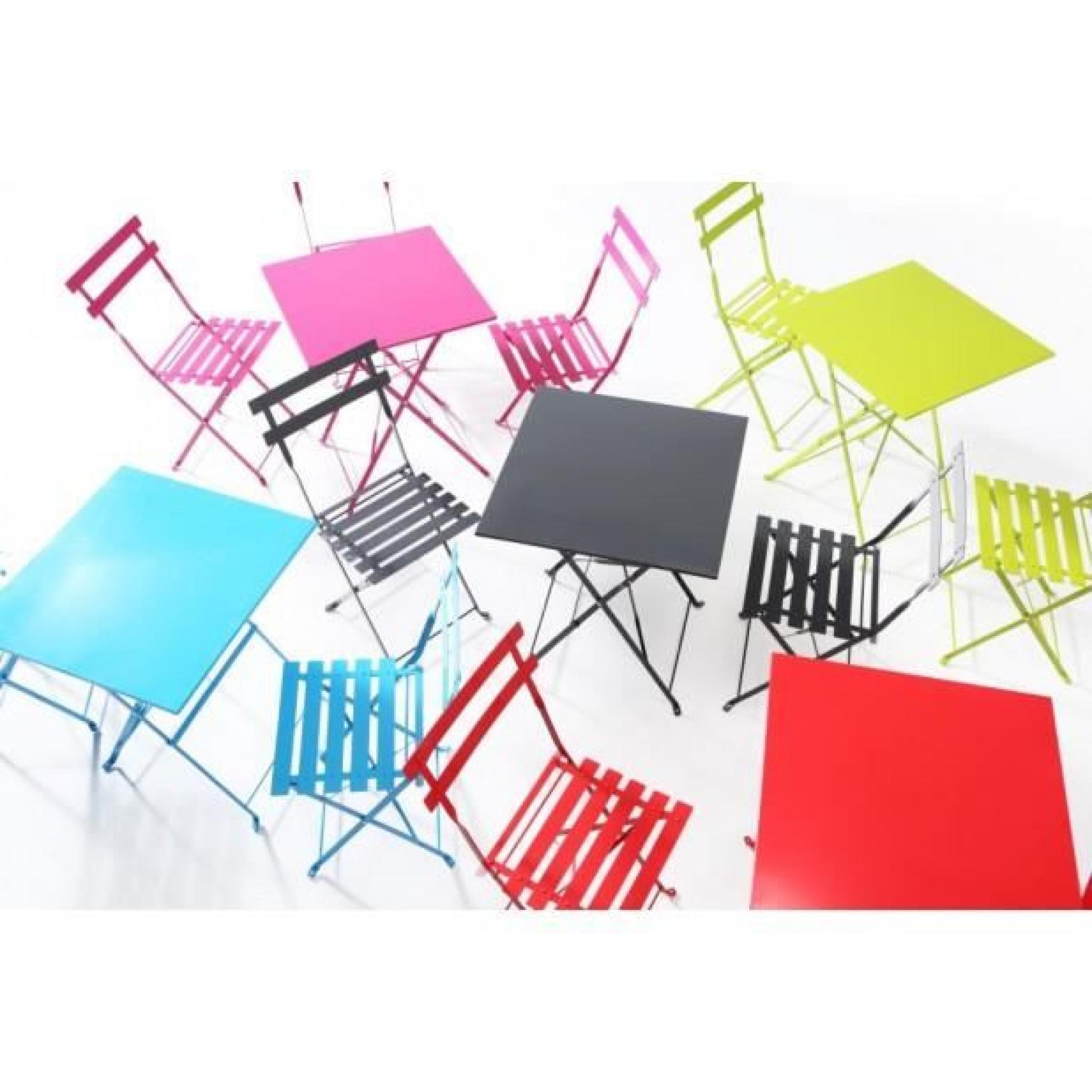 magnifique lot de 2 chaises bistrot rose framboise achat vente chaise salle a manger pas cher couleur et design fr