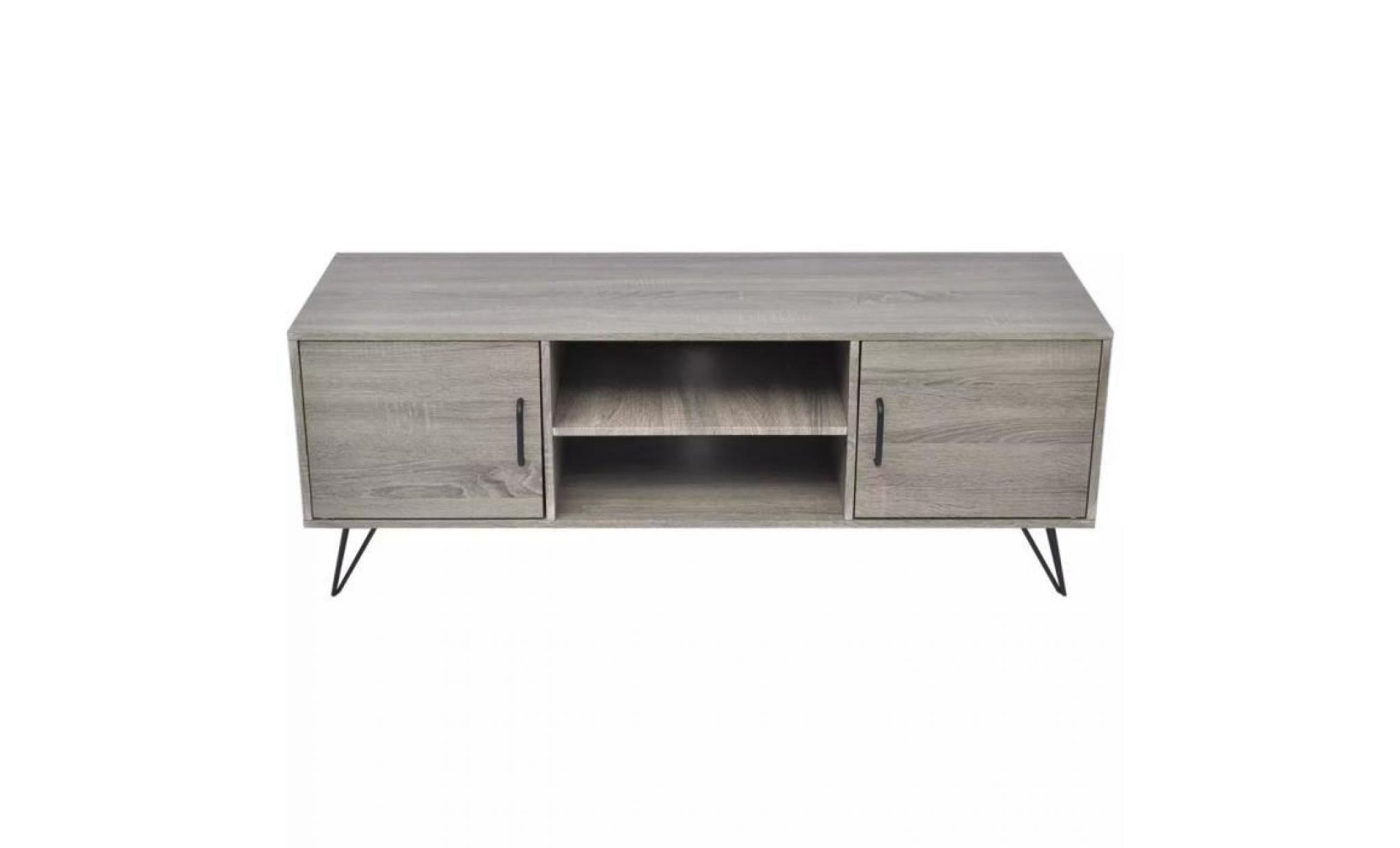meuble tv 120 x 40 x 45 cm muble tv mural scandinave gris achat vente meuble tv pas cher couleur et design fr