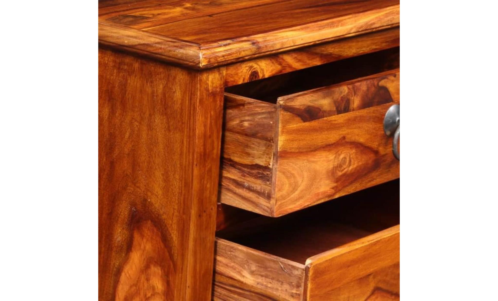 meuble tv meuble salon support tv bois massif de sesahm 116 x 30 x 40 cm achat vente meuble tv pas cher couleur et design fr
