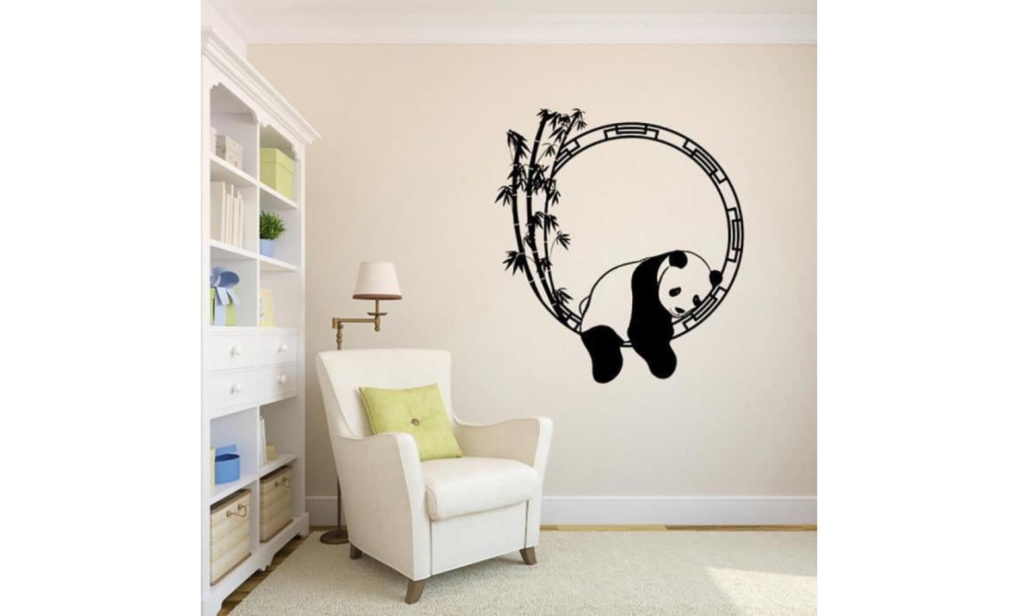 panda wall sticker amovible decalques art mural living room decors 1455 achat vente meuble tv pas cher couleur et design fr