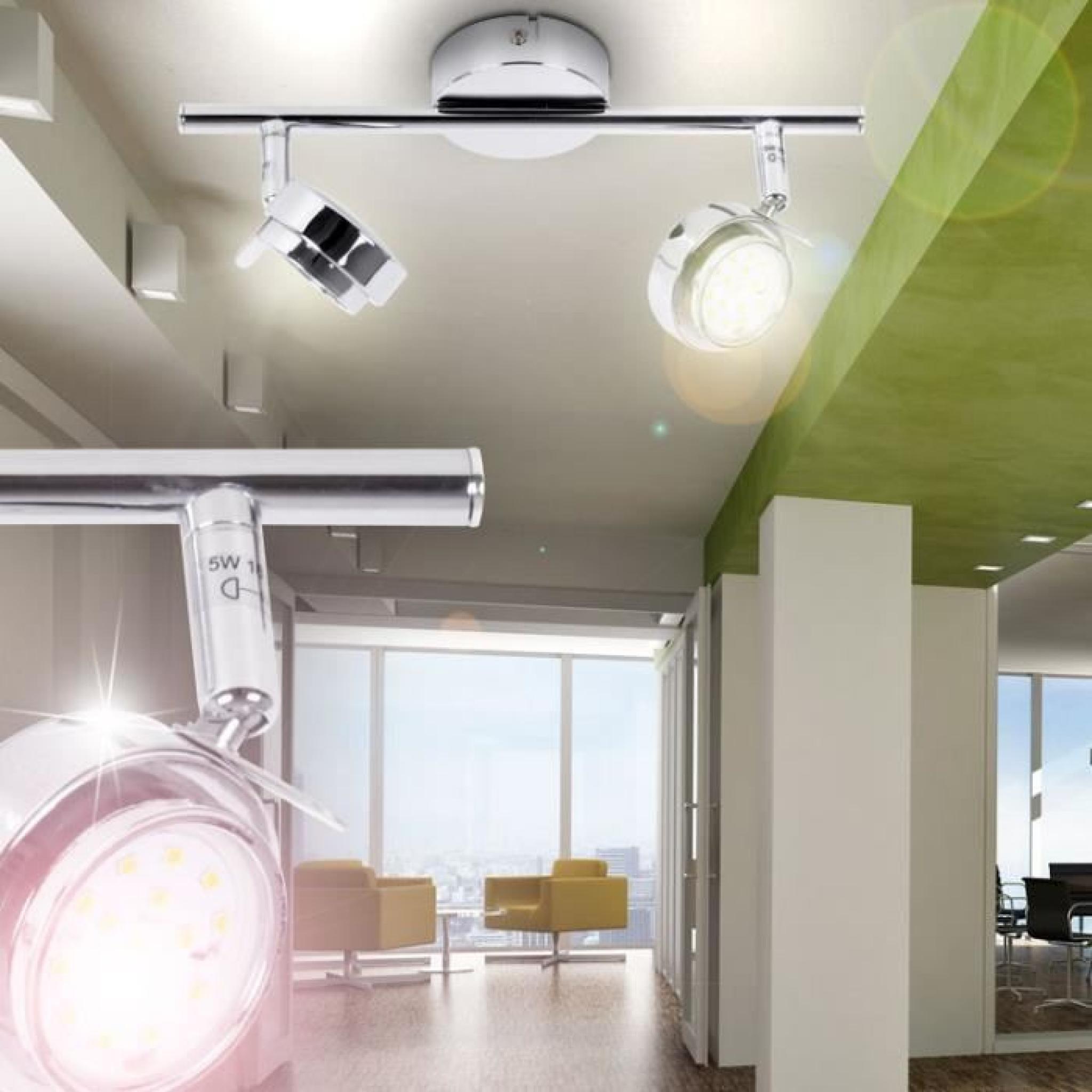 plafonnier del 10 watts luminaire mural plafond applique lampe 2 spots chrome eclairage achat vente applique murale pas cher couleur et design fr