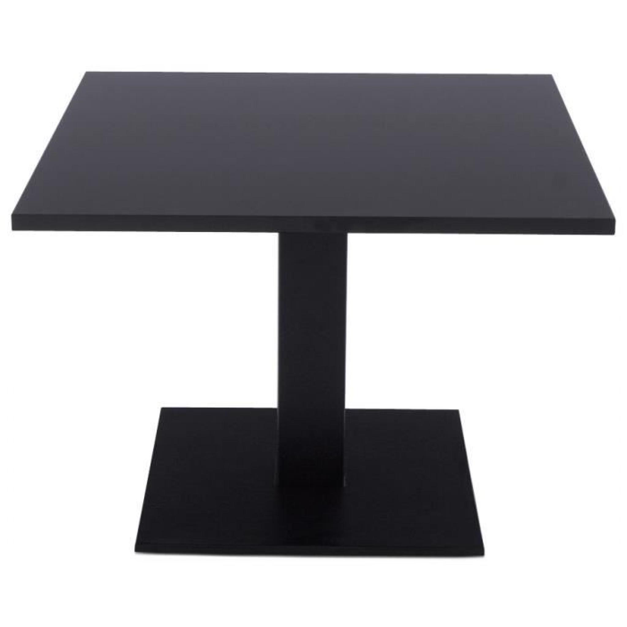 plateau de table spano 80x80cm noir carre achat vente table salle a manger pas cher couleur et design fr