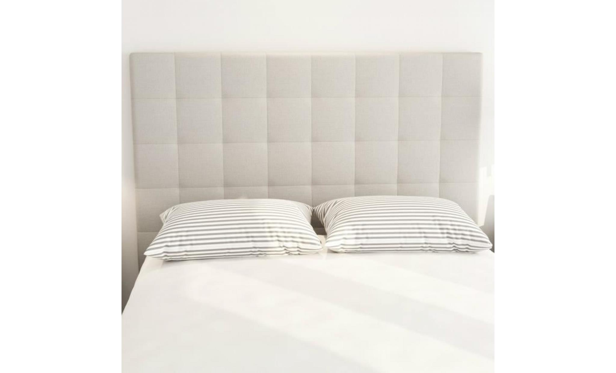 sogno tete de lit capitonnee style contemporain tissu beige l 160 cm achat vente tete de lit pas cher couleur et design fr