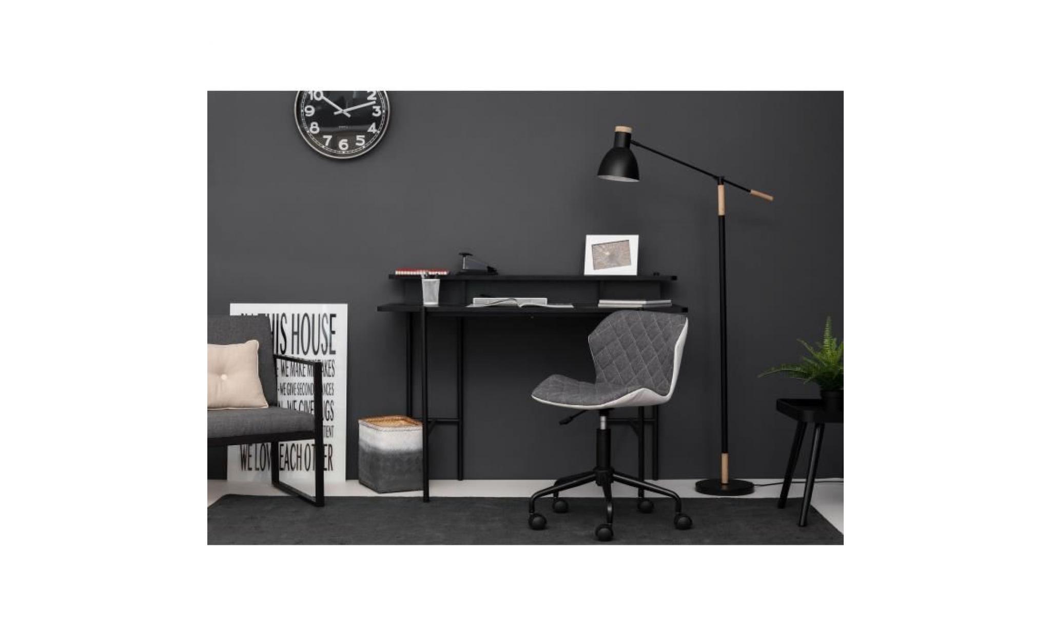 squate chaise de bureau tissu et simili gris fonce style industriel l 42 x p 35 cm achat vente chaise salle a manger pas cher couleur et design fr