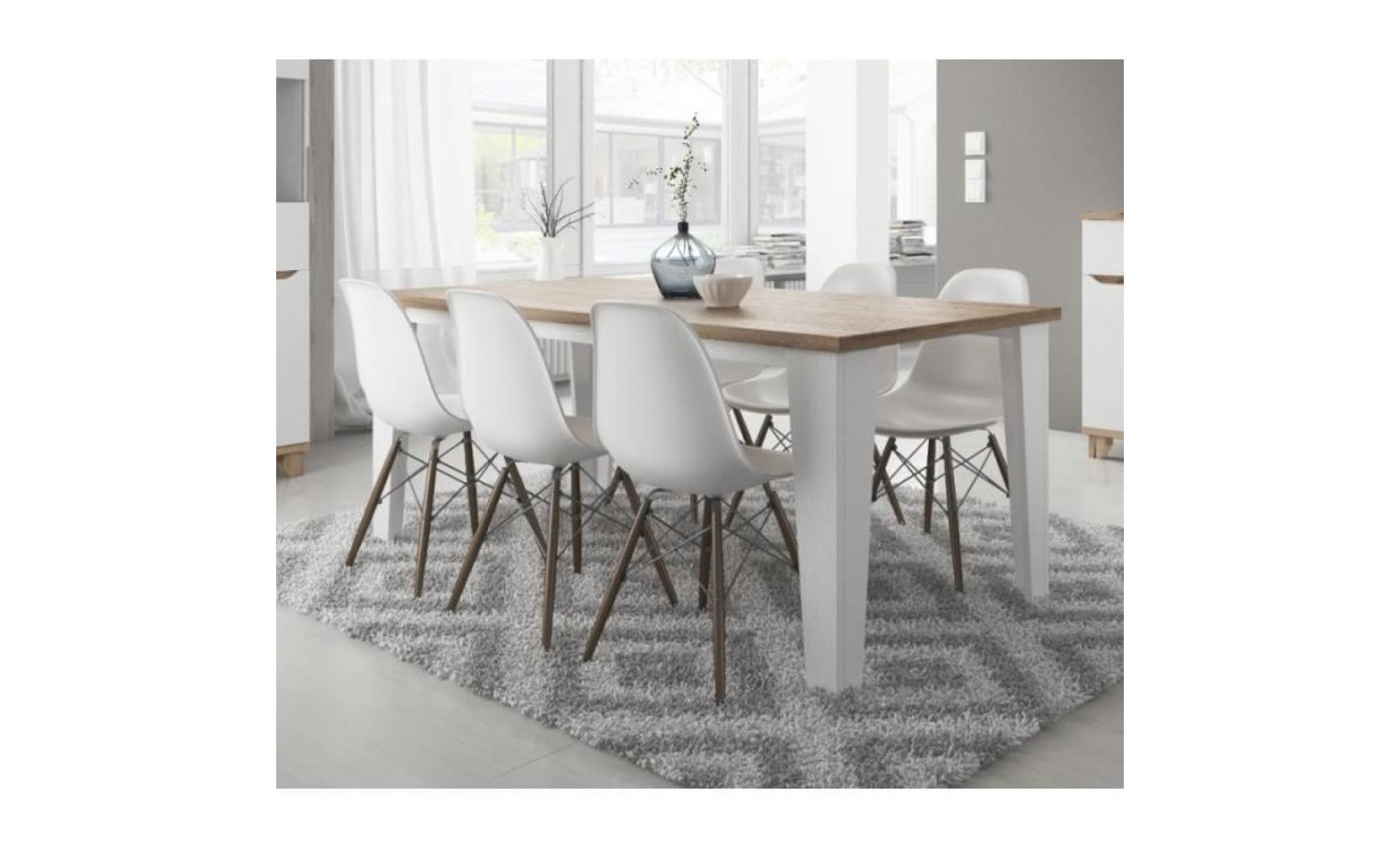 table a manger scandinave lier blanc et bois achat vente table salle a manger pas cher couleur et design fr