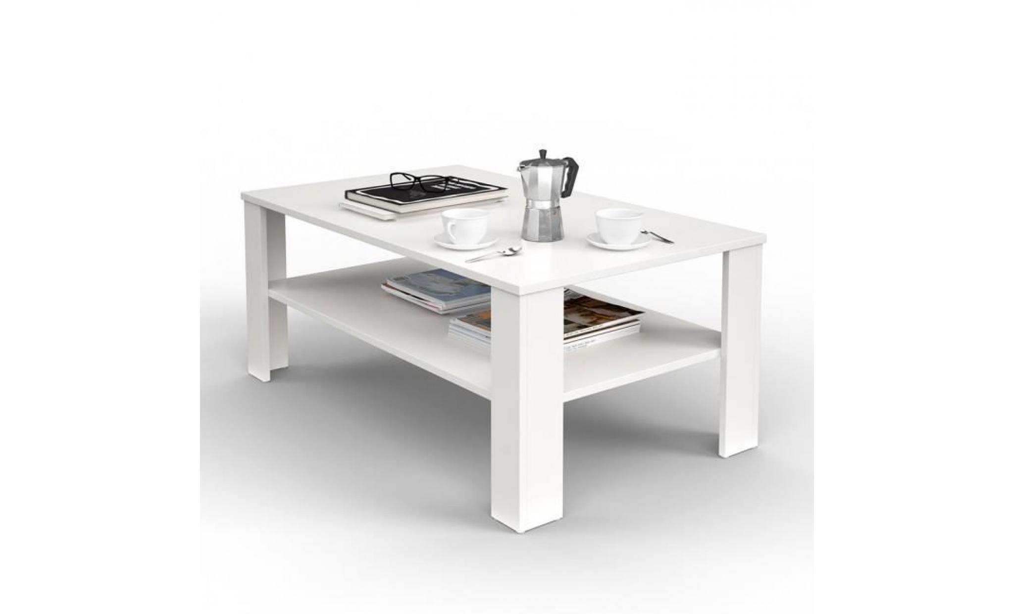 table basse blanche mat achat vente table basse pas cher couleur et design fr