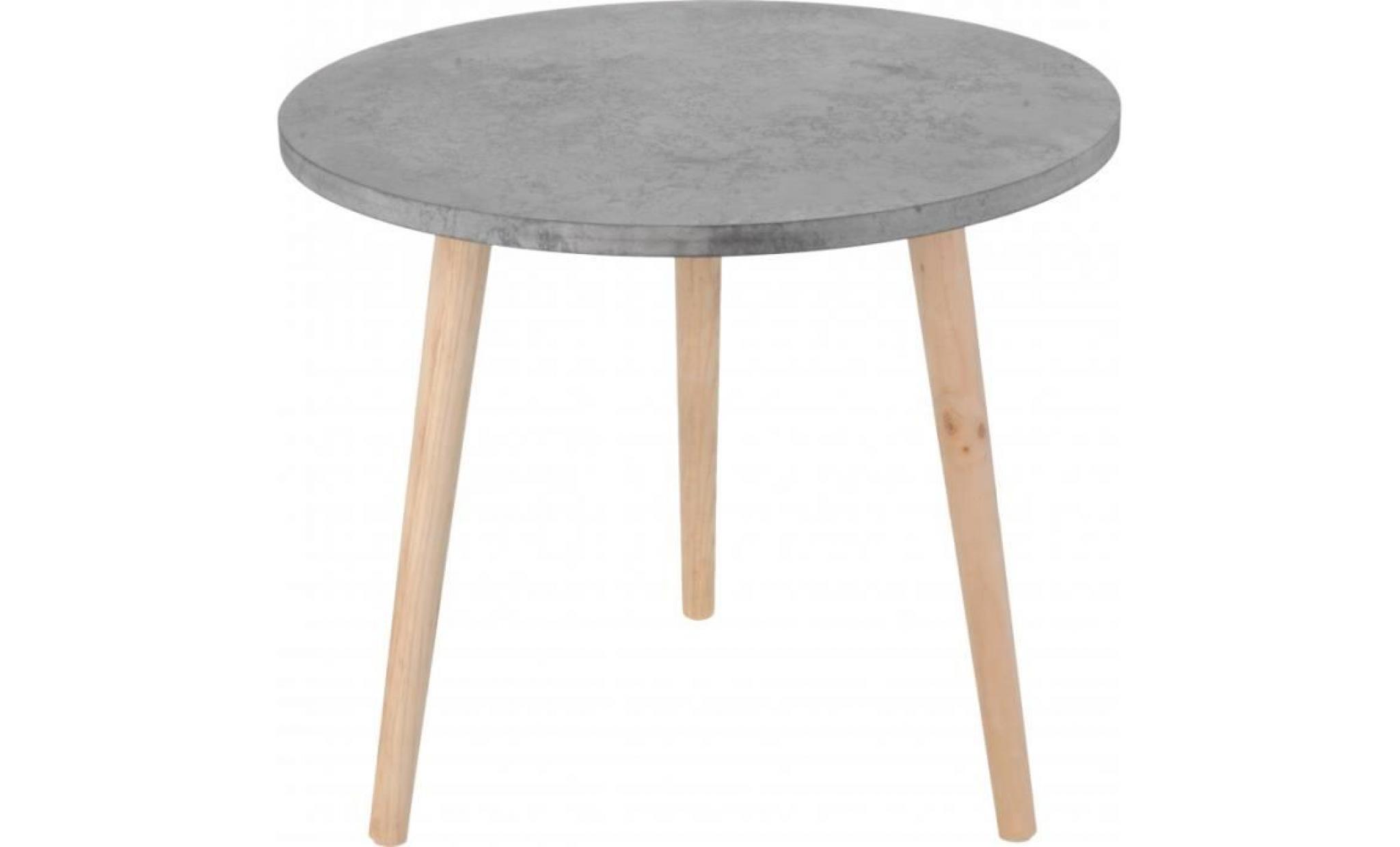 table basse ronde pieds en bois gris achat vente table basse pas cher couleur et design fr