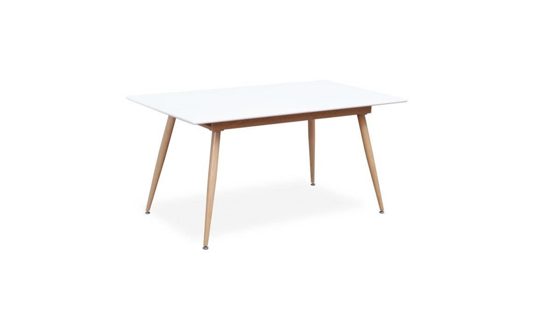 table style scandinave extensible betty blanc 6 a 8 personnes achat vente table salle a manger pas cher couleur et design fr