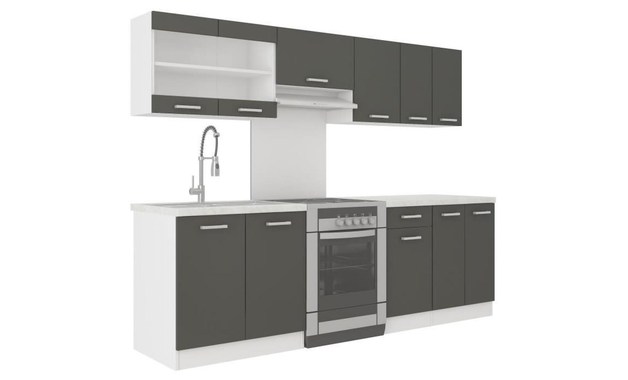 ultra cuisine complete avec plan de travail l 2m40 rouge mat achat vente cuisine complete pas cher couleur et design fr