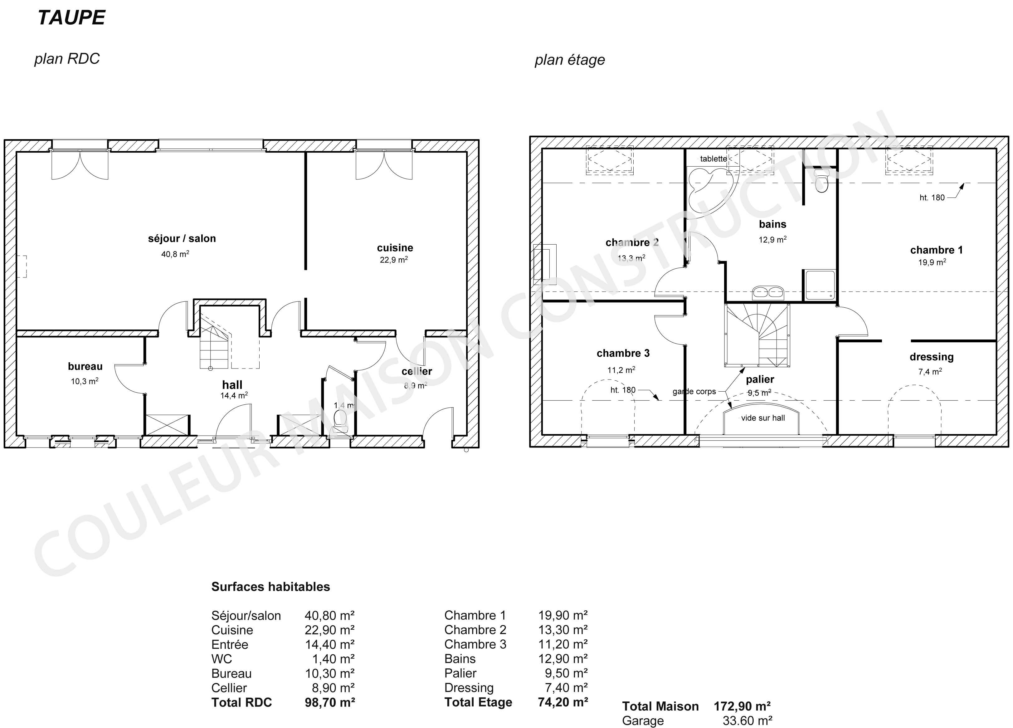 Best Beautiful Plan De Maison Exemple De Plan De Maison En D With Plan  Maison Chambres Tage With Plan Maison 4 Chambres