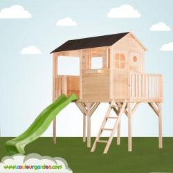 grande cabane enfant patio sur pilotis avec terrasse