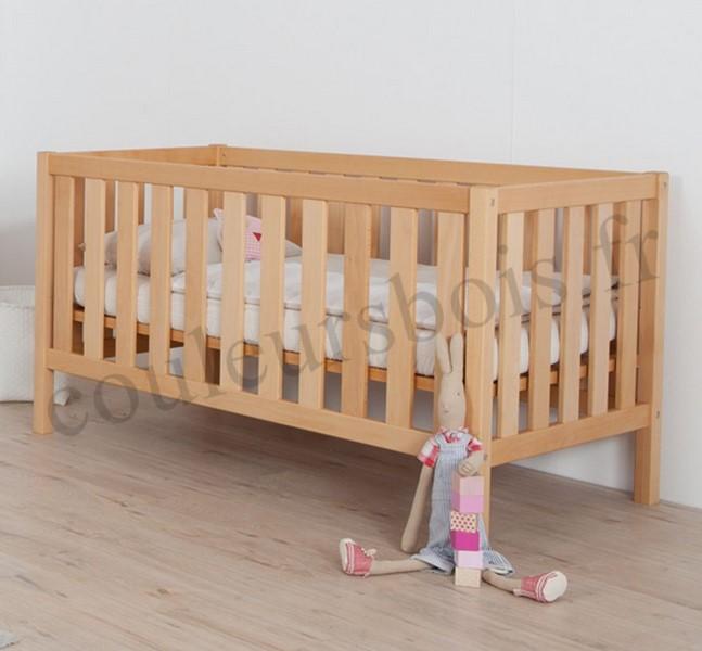 lit bebe en bois massif du hetre non traite pour ce modele evolutif