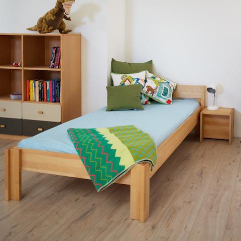 lit enfant bois massif un lit haut de gamme 90x200 en hetre naturel
