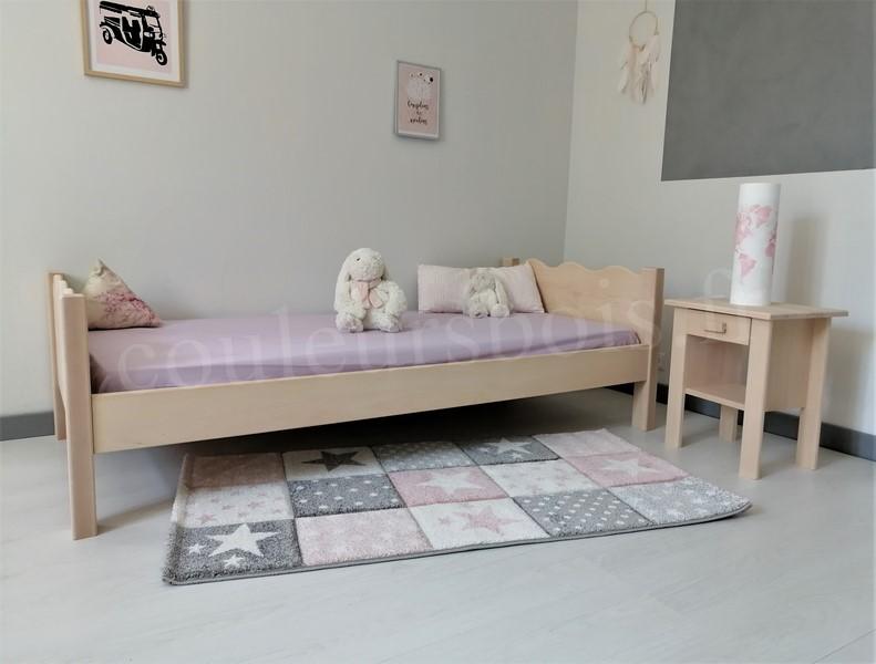 lit enfant en bois massif lea de fabrication francaise ecologique