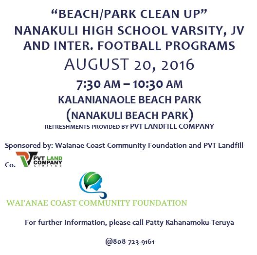 Kalanianaole beach clean up