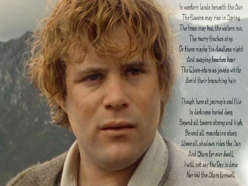 Samwise Gamgee Quote Wallpaper Council Of Elrond 187 Download Categories 187 Sam Gamgee