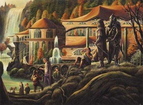 Image result for the council of elrond painting