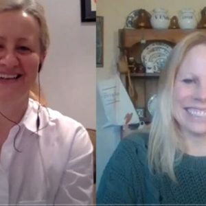 Michelle and Cadi on a video call talking about counselling and coaching in nature