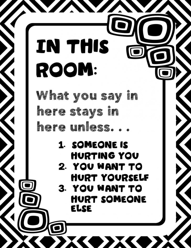 General : Counseling Office Signs--Modern Black and White