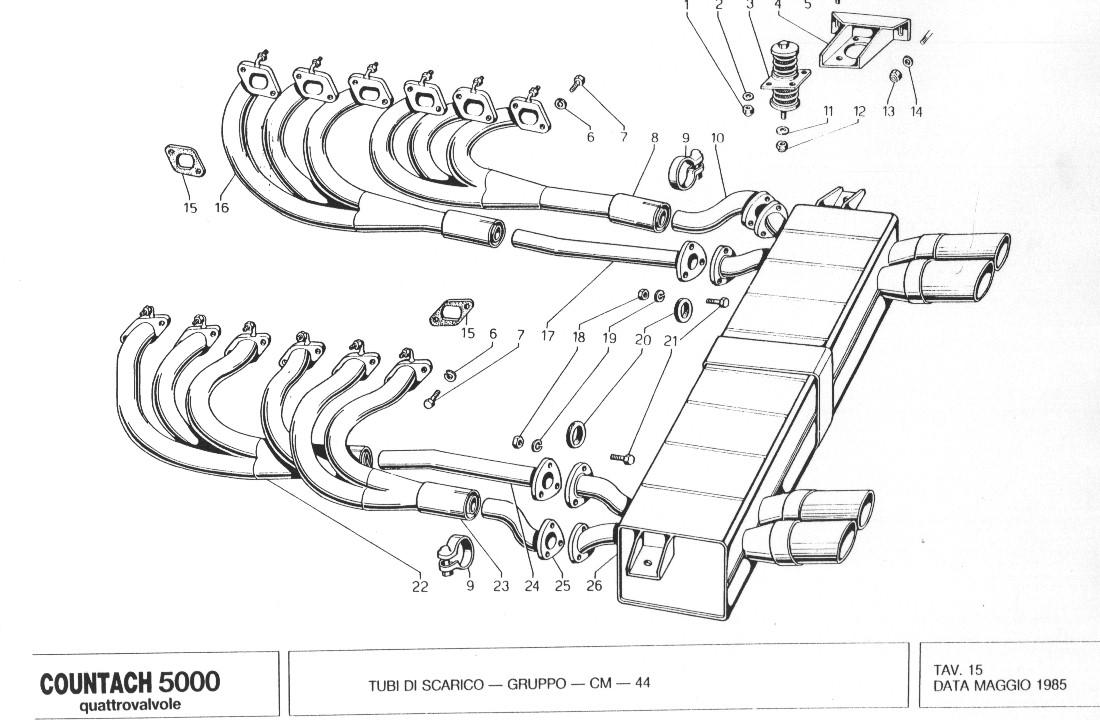 Lamborghini Countach QV Spare Parts Manual