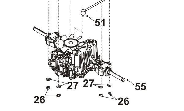 Westwood / Countax Tractor Hydrostatic K574c Tuff Torque