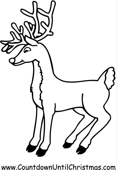Color Rudolph the Red-Nosed Reindeer