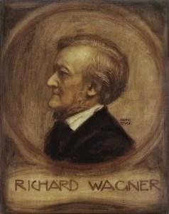 Richard Wagner, Gem. von Franz v.Stuck - Richard Wagner, Paint. by Franz v.Stuck -