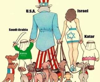 Image result for caricature u.s. and israel