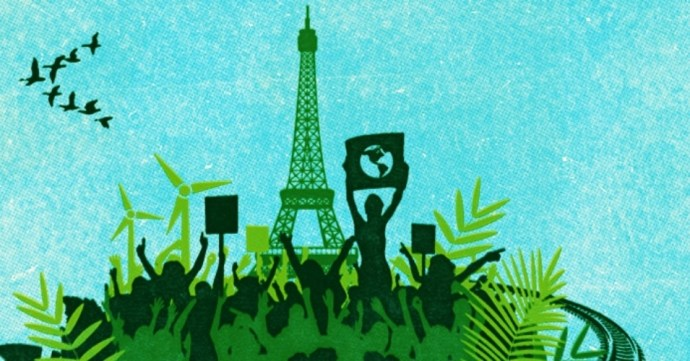 The real takeaway about the Paris agreement: It's not enough. (Image: Global Justice Now)
