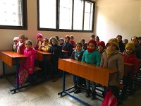 School in Aleppo - still smiling despite pain
