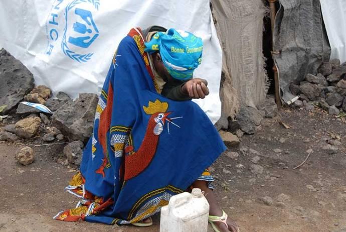 Woman victim in Kibati Camp, Goma, DRCongo