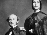 John Stuart Mill and his stepdaughter Helen Taylor, with whom he worked for fifteen years after the death of his wife, Harriet Taylor Mills (Wikipedia).
