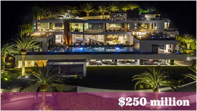 The U.S.' priciest house for sale is a Bel-Air mansion that includes 7 staffers and a helicopter - LA Times
