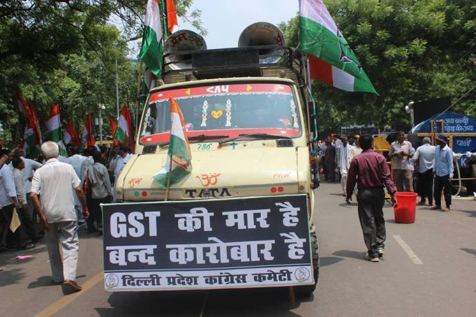 Protest against GST