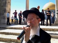 Temple Institute head Yisrael Ariel, who has called for the destruction of churches and mosques and the mass slaughter of those who refuse to accept his extreme version of Judaism, at the al-Aqsa mosque compound in June. (via Facebook)