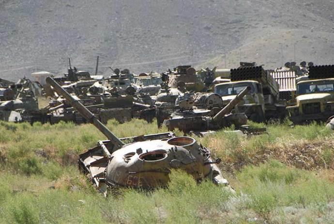Soviet tanks cemetery