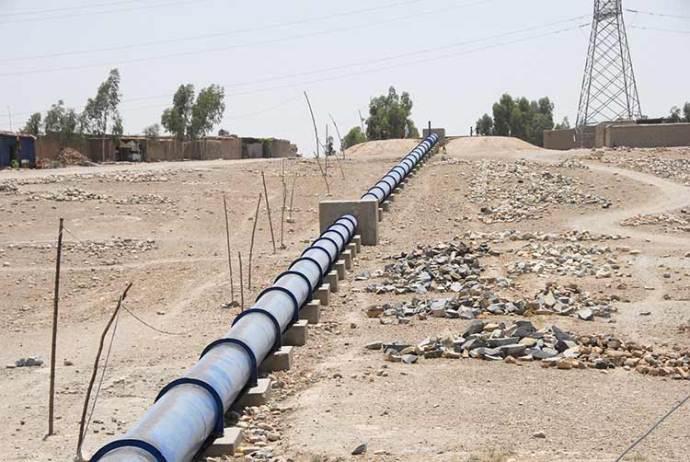 Soviet water pipe in the village, Nangarhar Province