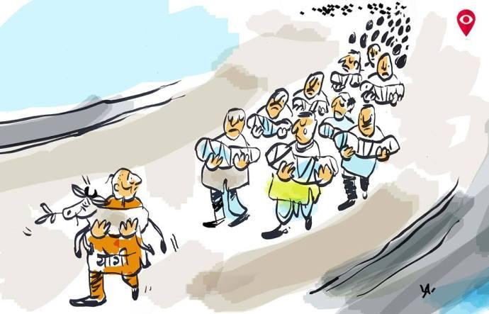 Cartoon by  Pradeep Cartoons Facebook@artistpradeep  https://www.facebook.com/artistpradeep/photos/a.1266879940057853.1073741826.1266877410058106/1461233997289112/?type=3&theater