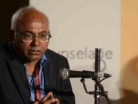 JAIPUR, INDIA - JANUARY 28: Activist and author Kancha Ilaiah speaks at Jaipur Literature Festival in Jaipur on Monday. (Photo by Ramesh Sharma/India Today Group/Getty Images)