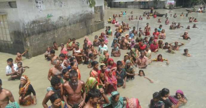 Flooding in Bangladesh has submerged a third of the country. (Photo: British Red Cross)