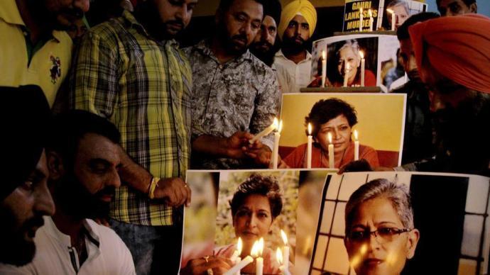 protest-against-lankesh-murder