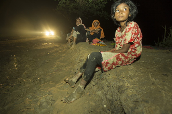 Rohingya Refugee near Bangladesh-Myanmar border, Cox's Bazar, Bangladesh