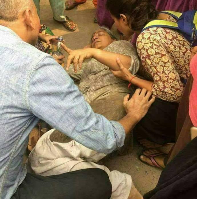 Injured Annie Raja