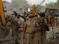 Murder Of Democracy In Kathputli Colony, Houses Demolished, People Beaten Up, Annie Raja Injured